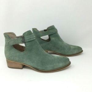 Seychelles Aqua Suede Leather Ankle Bootie
